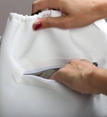 zadrga bel nahrbtnik