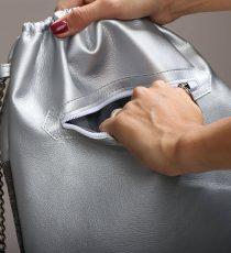 zadrga srebrn nahrbtnik